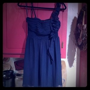 City Triangles Navy Blue  Dress
